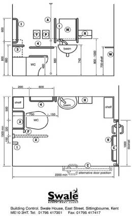 Image of schematic for an accessible toilet