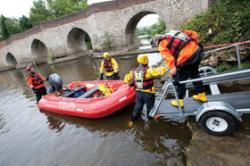 Kent Fire and Rescue during a flood. (Provided by Kent Fire and Rescue.)