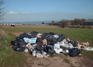 Fly tipping on the Isle of Sheppey