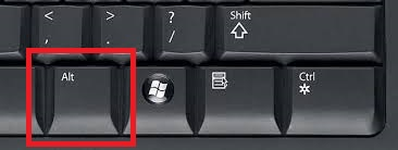 Locate the ALT key on your PC keyboard