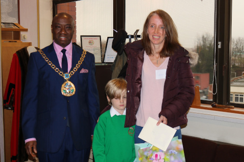The 3rd prize was awarded to Ryan Coppen, 8 years old from Kemsley Primary Schoo