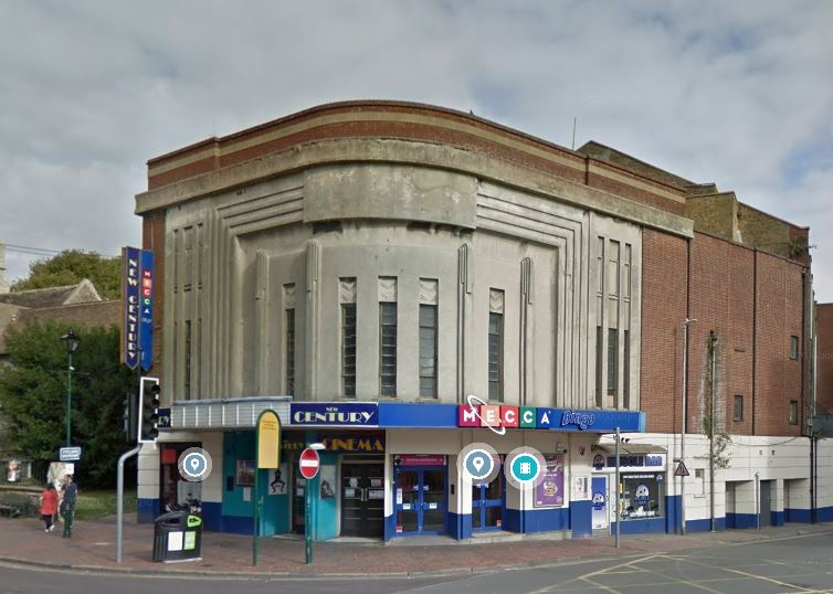 The Cinema at the junction of High Street and Crown Quay Lane, Sittingbourne showing the Art Deco style which makes it eligible for inclusion in the Local Heritage List.
