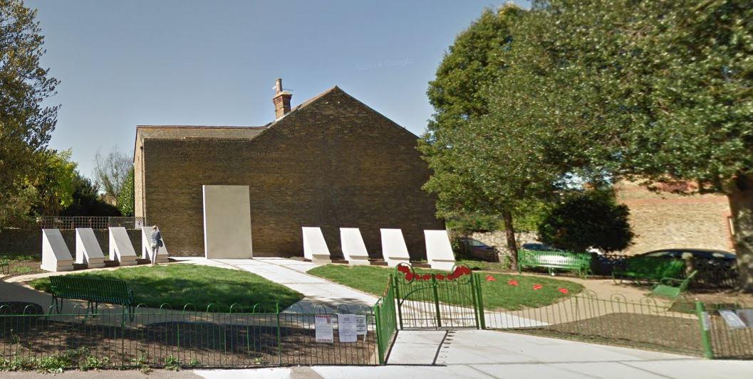 3.View of War Memorial Gardens, Faversham